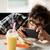 moço · óculos · beber · tecnologia · internet - foto stock © dolgachov