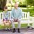 расстраивать · мальчика · сидят · парка · стороны · голову - Сток-фото © dolgachov