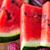 friss · görögdinnye · szeletek · fából · készült · felső · kilátás - stock fotó © dolgachov