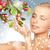 幸せ · 女性 · リンゴ · 小枝 · 画像 · 顔 - ストックフォト © dolgachov