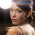 mulher · vestido · de · noite · diamante · brincos · luxo - foto stock © dolgachov