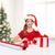 natal · papai · noel · presentes · papel · de · embrulho · férias · surpreendido - foto stock © dolgachov