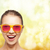 happy teenage girl in pink sunglasses stock photo © dolgachov