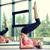 felice · esercizio · stuoia · di · yoga · palestra · sport - foto d'archivio © dolgachov