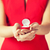 menyasszony · mutat · gyűrű · portré · nő · nők - stock fotó © dolgachov
