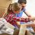 счастливым · пару · коробки · движущихся · новый · дом · ипотечный - Сток-фото © dolgachov