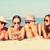 gruppo · sorridere · giovani · donne · spiaggia · viaggio - foto d'archivio © dolgachov