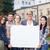kolej · Öğrenciler · ilan · panosu · beyaz · silah · adam - stok fotoğraf © dolgachov