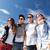 csoport · tinédzserek · kívül · nyár · ünnepek · tini - stock fotó © dolgachov
