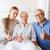 famiglia · felice · senior · donna · ospedale · medicina · sostegno - foto d'archivio © dolgachov
