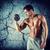 knappe · man · gespierd · torso · gewichten · sport - stockfoto © dolgachov