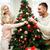 anya · lánygyermek · díszít · karácsonyfa · vidám · karácsony - stock fotó © dolgachov
