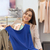 happy woman with clothes at clothing store mirror stock photo © dolgachov