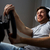 homme · jouer · jeu · vidéo · roue · jeunes - photo stock © dolgachov