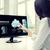 kadın · hava · durumu · bilgisayar · iş · adamları · teknoloji - stok fotoğraf © dolgachov