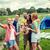 счастливым · друзей · смартфон · лагерь · кемпинга - Сток-фото © dolgachov