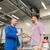 auto mechanic giving key to man at car shop stock photo © dolgachov