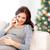 heureux · femme · enceinte · appelant · smartphone · maison · grossesse - photo stock © dolgachov