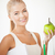 jovem · atraente · mulher · verde · maçã - foto stock © dolgachov