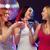 drie · glimlachend · vrouwen · cocktails · disco · ball · nieuwjaar - stockfoto © dolgachov