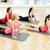 grupo · mulheres · sessão · ioga · meditando · estúdio - foto stock © dolgachov