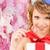 女性 · ギフトボックス · 花 · 髪 · 皮膚 · 化粧 - ストックフォト © dolgachov
