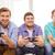 улыбаясь · друзей · играет · Видеоигры · домой · дружбы - Сток-фото © dolgachov