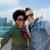 happy teenage couple taking selfie in singapore stock photo © dolgachov
