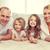 parents · deux · filles · étage · maison · famille - photo stock © dolgachov