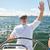 シニア · 男 · ボート · ヨット · セーリング · 海 - ストックフォト © dolgachov