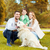gelukkig · gezin · labrador · retriever · hond · park · familie · huisdier - stockfoto © dolgachov