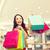 mulher · jovem · algo · compras · centro · moda - foto stock © dolgachov