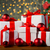 gift boxes and red balls under christmas tree stock photo © dolgachov