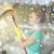 feliz · mujer · guantes · limpieza · ventana · esponja - foto stock © dolgachov