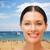 belle · femme · visage · bronzé · beauté · santé - photo stock © dolgachov