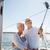 senior couple taking selfie on sail boat or yacht stock photo © dolgachov