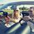 heureux · couple · voiture · été · route · voyage - photo stock © dolgachov