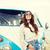 jovem · mulher · malas · longo · estrada - foto stock © dolgachov