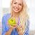 huisvrouw · groene · appel · heldere · foto · vrouw - stockfoto © dolgachov