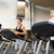 smiling men exercising on treadmill in gym stock photo © dolgachov