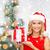 gelukkig · cute · vrouw · jurk · geschenkdoos - stockfoto © dolgachov
