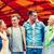grup · gülen · arkadaşlar · lunapark · boş · dostluk - stok fotoğraf © dolgachov