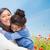 moeder · knuffelen · jonge · dochter · zomer · veld - stockfoto © dolgachov