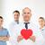 orvos · kardiológus · piros · szív · kórház · orvosi - stock fotó © dolgachov