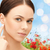 face of beautiful woman touching her ear stock photo © dolgachov