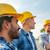 groupe · souriant · constructeurs · extérieur · affaires · bâtiment - photo stock © dolgachov