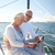 idős · pár · táblagép · vitorla · csónak · jacht · vitorlázik - stock fotó © dolgachov