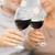 közelkép · boldog · idős · pár · vörösbor · család · ünnepek - stock fotó © dolgachov