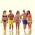 radosny · rodziny · spaceru · plaży · niebo · dziewczyna - zdjęcia stock © dolgachov