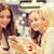 felice · donne · smartphone · mall · vendita - foto d'archivio © dolgachov